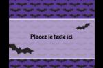 Chauves-souris d'Halloween Étiquettes rondes gaufrées - gabarit prédéfini. <br/>Utilisez notre logiciel Avery Design & Print Online pour personnaliser facilement la conception.