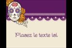 Halloween, jour des Morts Étiquettes rondes gaufrées - gabarit prédéfini. <br/>Utilisez notre logiciel Avery Design & Print Online pour personnaliser facilement la conception.
