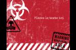 Apocalypse zombie d'Halloween Étiquettes rondes gaufrées - gabarit prédéfini. <br/>Utilisez notre logiciel Avery Design & Print Online pour personnaliser facilement la conception.
