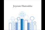 Chandelier bleu de Hanoukka  Étiquettes rondes gaufrées - gabarit prédéfini. <br/>Utilisez notre logiciel Avery Design & Print Online pour personnaliser facilement la conception.