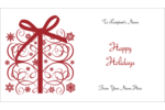Infuse holiday magic into custom projects with pre-designed Swirl Gift templates.