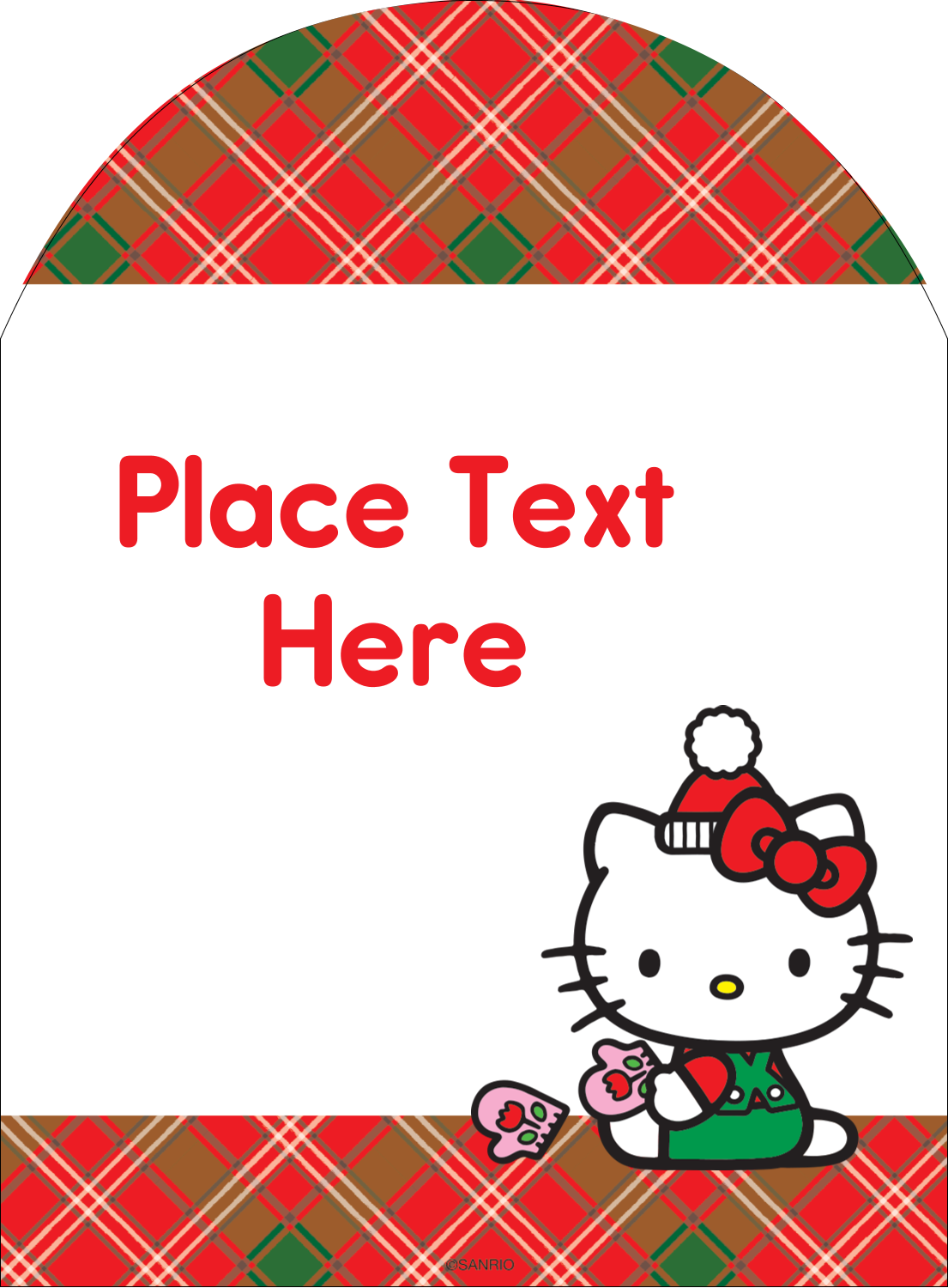 """4¾"""" x 3½"""" Arched Label - Warm Holiday Wishes"""