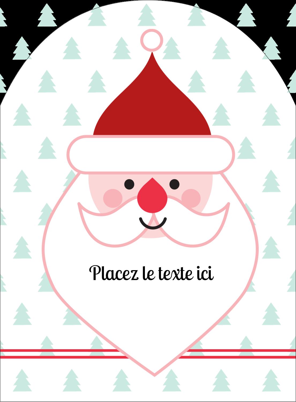 """4¾"""" x 3½"""" Étiquettes rectangulaires - Père Noël"""