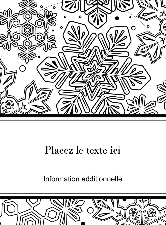 """4¾"""" x 3½"""" Étiquettes arrondies - Mandala de flocon de neige"""