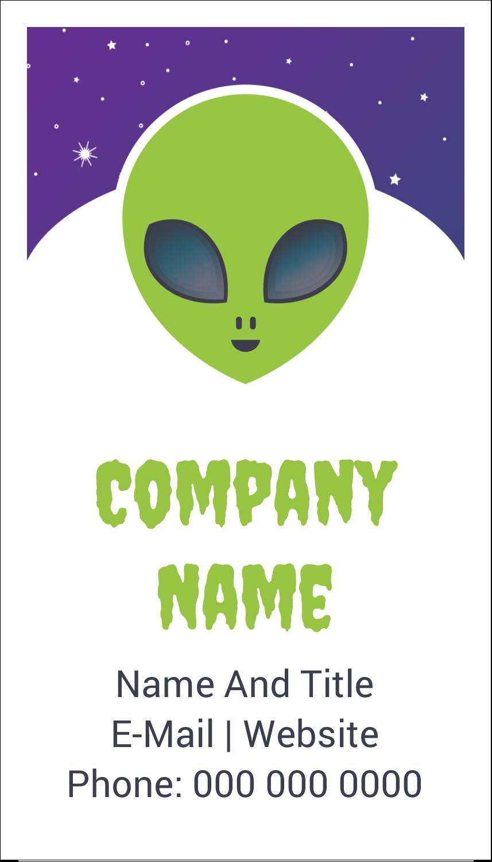"3½"" x 2"" Business Card - Alien Party"