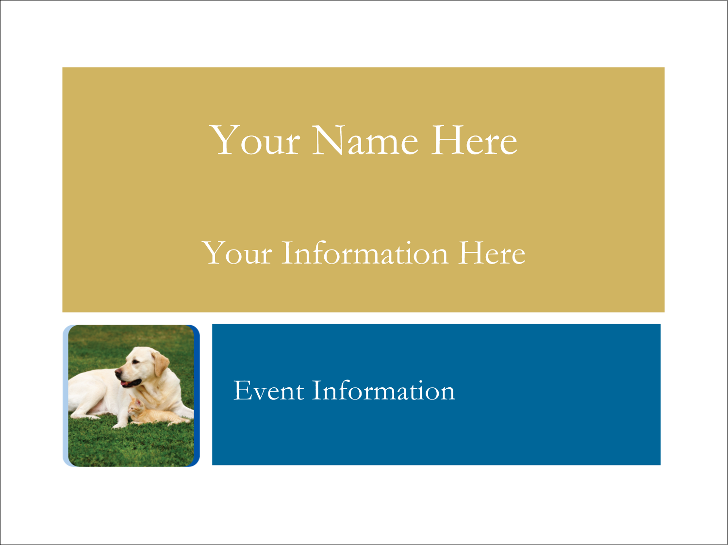 "3"" x 4"" Name Tags - AnimalsPetCare01"