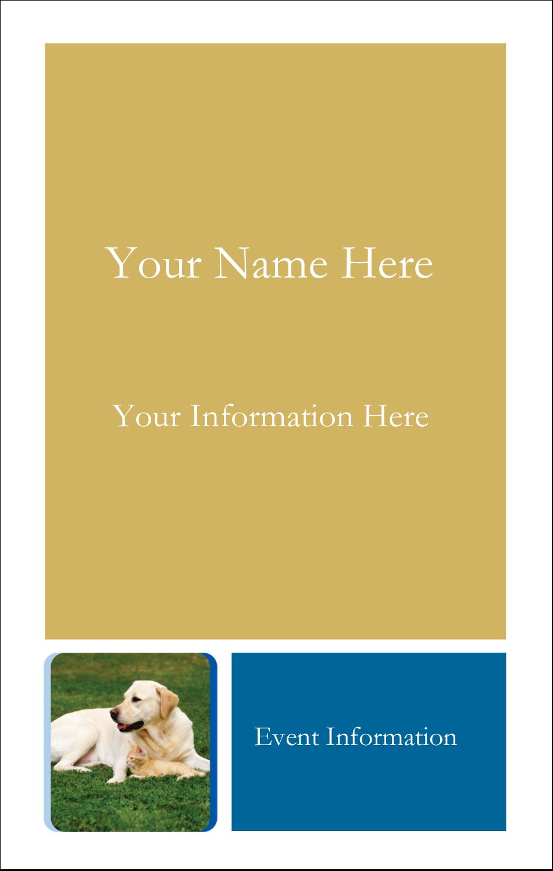 3½ x 2¼ Name Tags - AnimalsPetCare01
