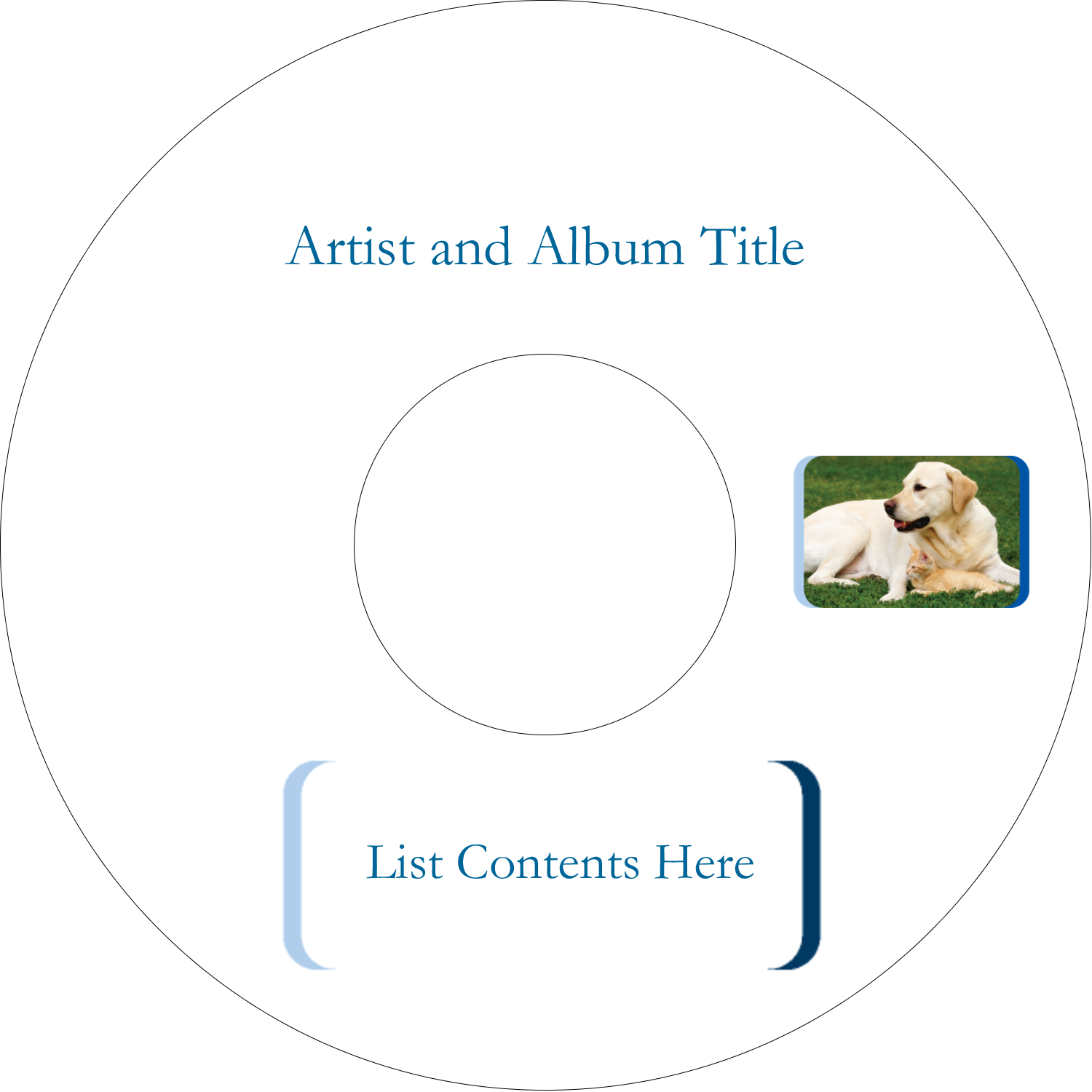 "4.65"" CD-DVD Label - AnimalsPetCare01"