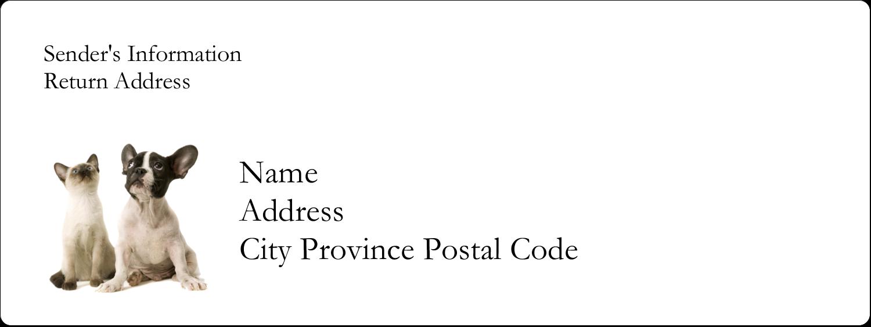 "1½"" x 4"" Address Label - Animals Pet Care"