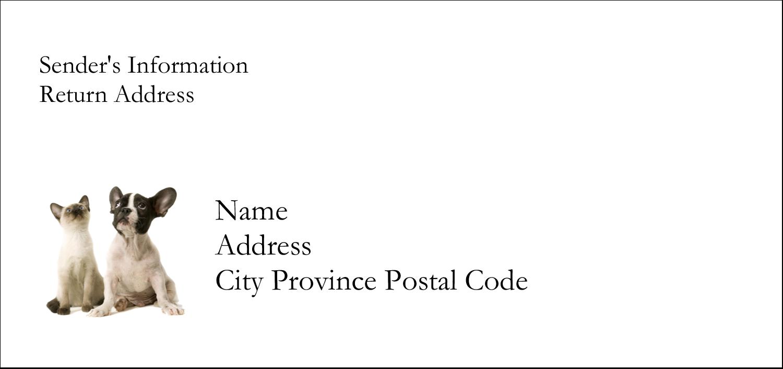 """4¼"""" x 2"""" Mailing Label - Animals Pet Care"""