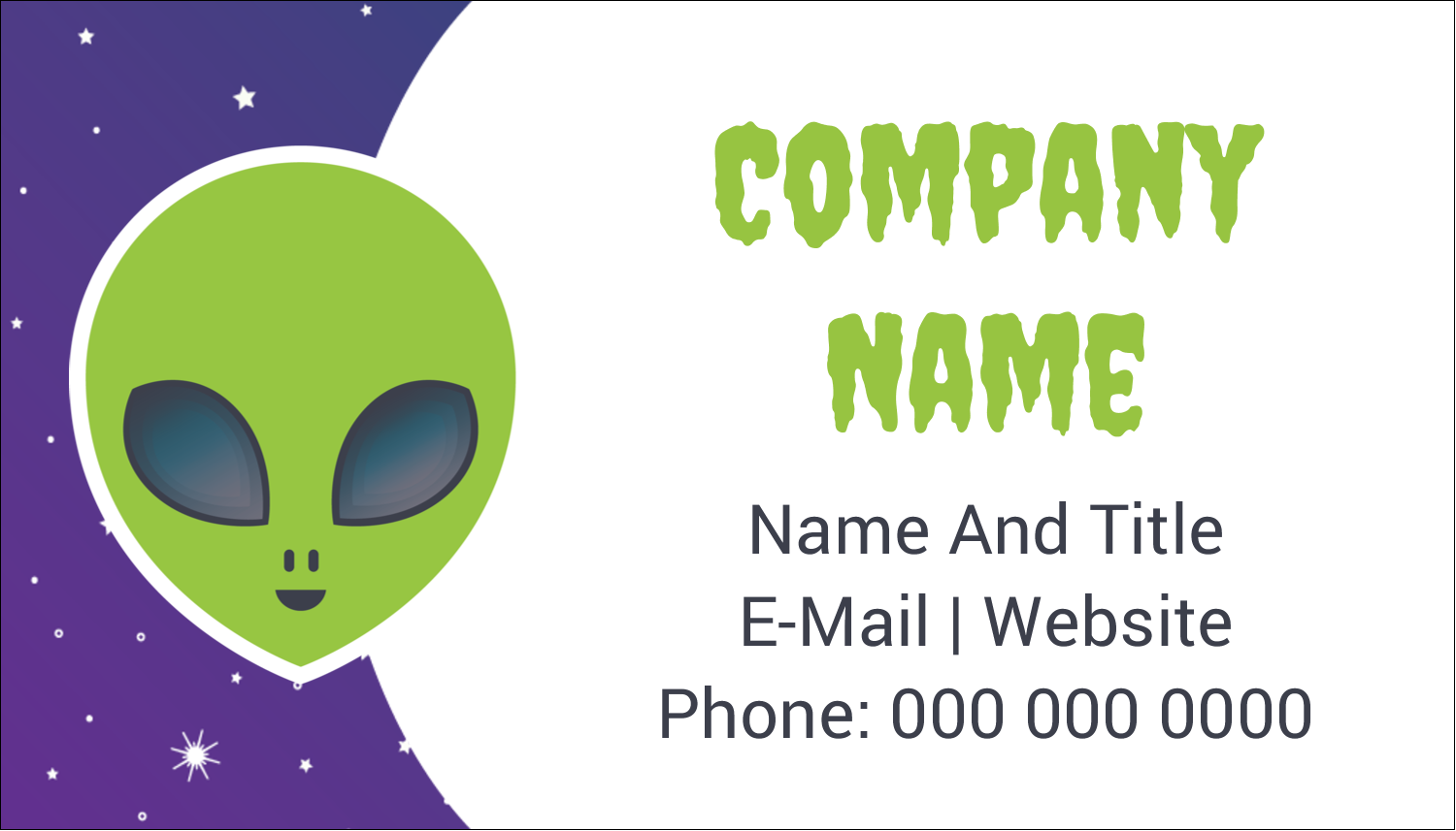 "2"" x 3½"" Business Card - Alien Party"