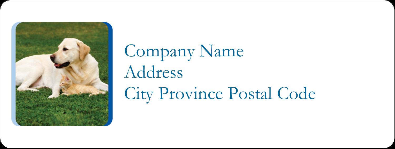 """⅔"""" x 1¾"""" Address Label - AnimalsPetCare01"""