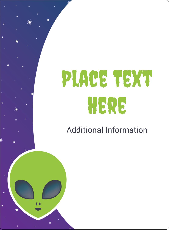 "4¾"" x 3½"" Rectangular Label - Alien Party"