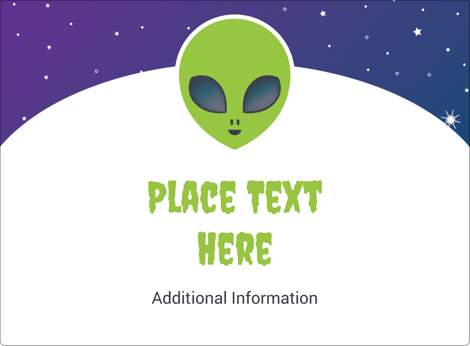 "3½"" x 4¾"" Rectangular Label - Alien Party"