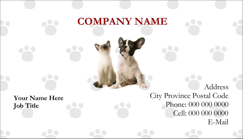"2"" x 3½"" Business Card - Animals Pet Care"