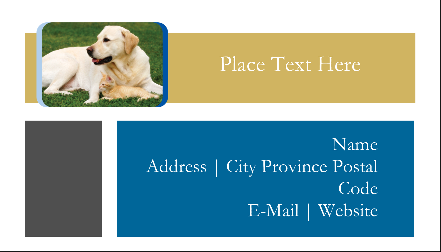 "2"" x 3½"" Business Card - AnimalsPetCare01"