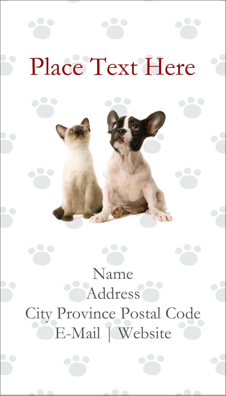 "3½"" x 2"" Business Card - Animals Pet Care"
