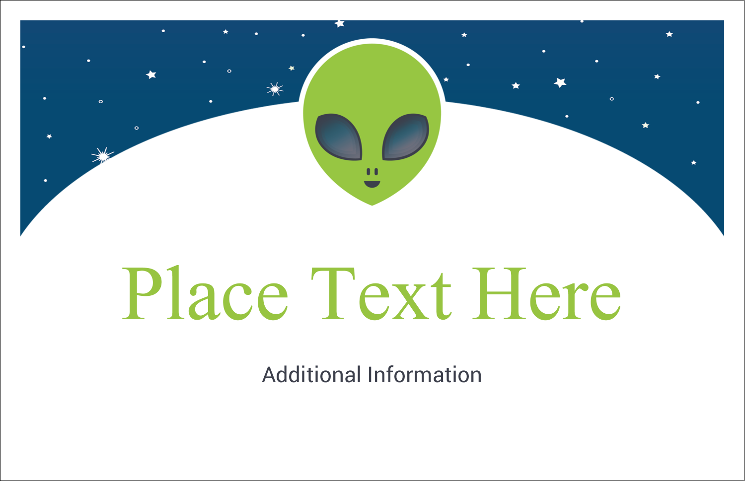"5½"" x 8½"" Greeting Card - Alien Party"