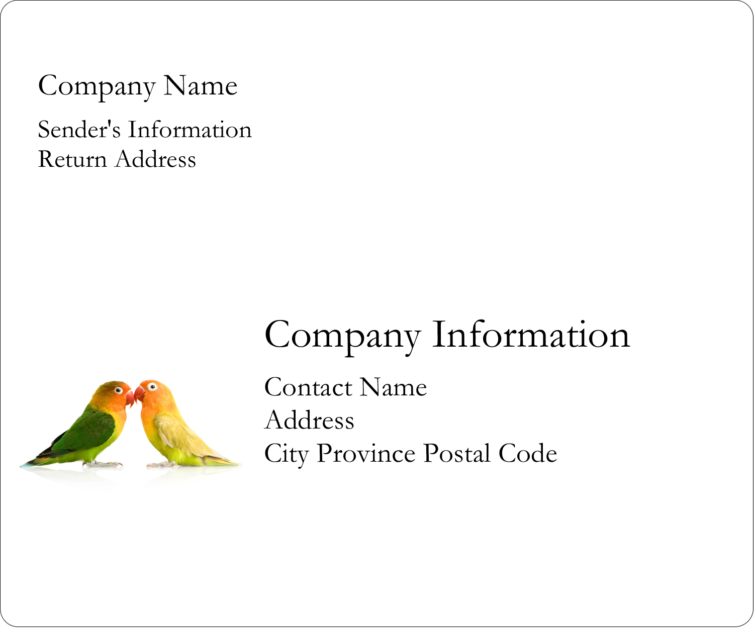 "3⅓"" x 4"" Shipping Label - Birds in Nature"