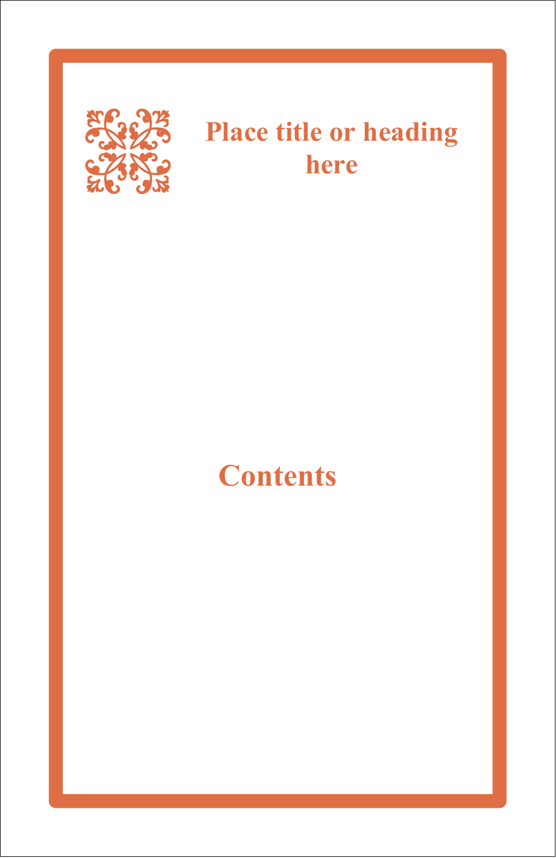 "8½"" Binder Insert x 5½"" Mini Binder - Arc Design Orange"