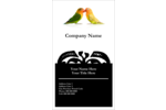 Whatever the event, feel the love with this charming Birds in Nature template design!