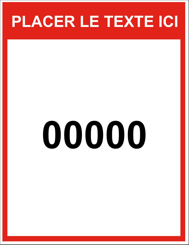 """8½"""" x 11"""" Étiquettes D'Identification - Numéros de série"""