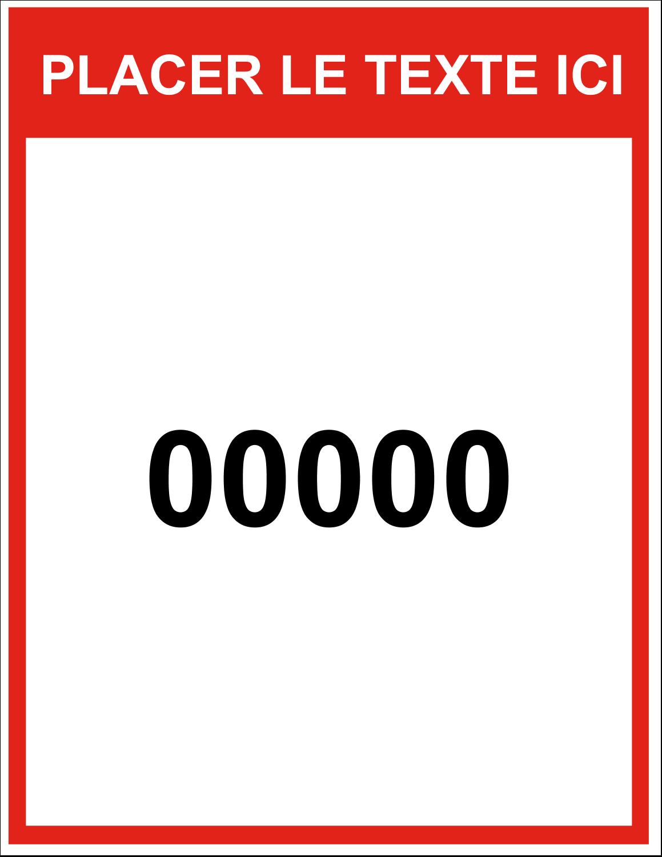 """11"""" x 8½"""" Étiquettes d'expéditions - Numéros de série"""