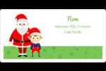 Père Noel et Henri le Lutin Étiquettes d'expédition - gabarit prédéfini. <br/>Utilisez notre logiciel Avery Design & Print Online pour personnaliser facilement la conception.