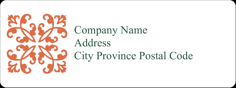 "⅔"" x 1¾"" Address Label - Arc Design Orange"