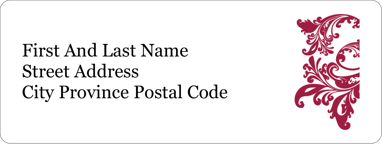 "⅔"" x 1¾"" Address Label - Anniversary"