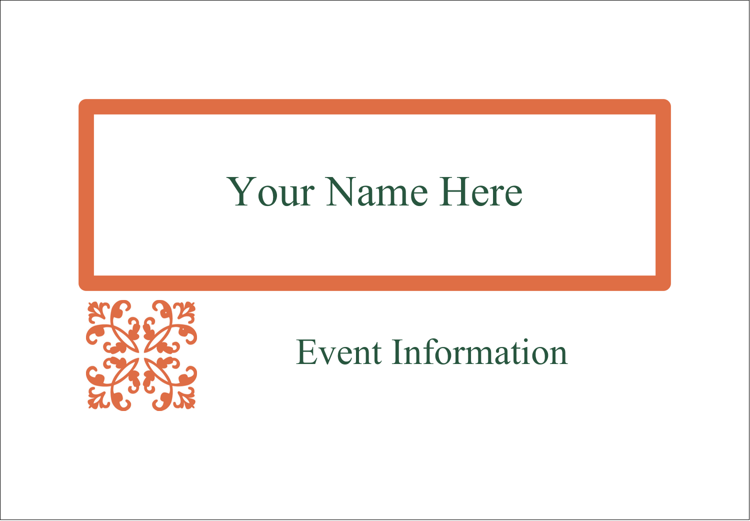 "2-11/12"" x 3⅜"" Name Badge Label - Arc Design Orange"