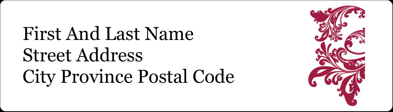 "½"" x 1¾"" Address Label - Anniversary"