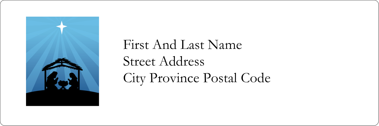 "1⅓"" x 4"" Address Label - Baby Manger"