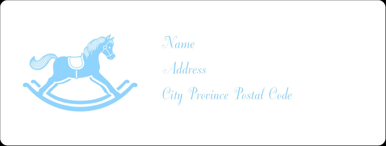 "1"" x 2⅝"" Address Label - Baby Rocking Horse"