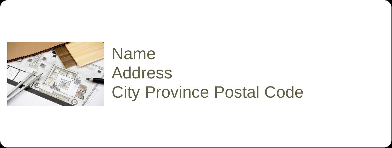 """1"""" x 2⅝"""" Address Label - Arch 1"""