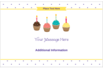 Bring birthday cheer to custom projects with pre-designed Birthday Supplies templates.