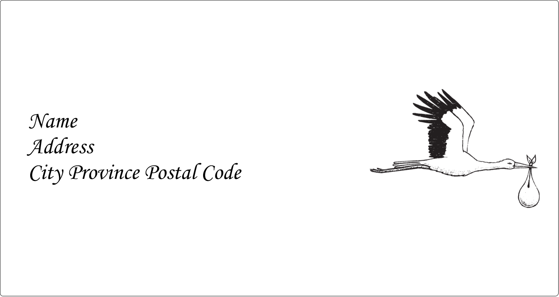 "4"" x 2⅛"" Label Makers - Baby Vintage Stork"