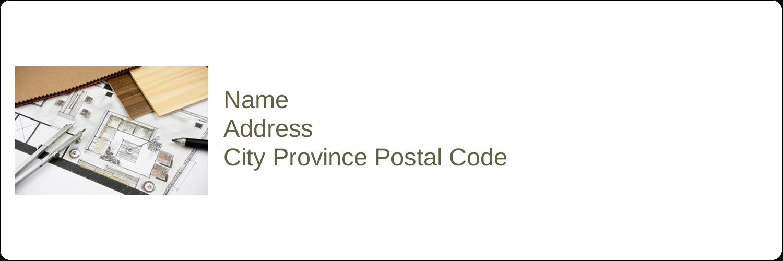 """1⅓"""" x 4"""" Address Label - Arch 1"""