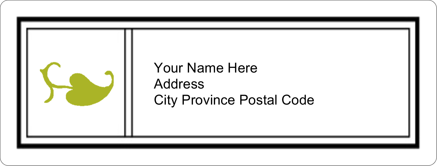 "1"" x 2⅝"" Address Label - Modern"