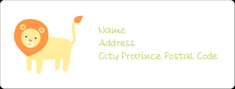 "1"" x 2⅝"" Address Label - Baby Safari"
