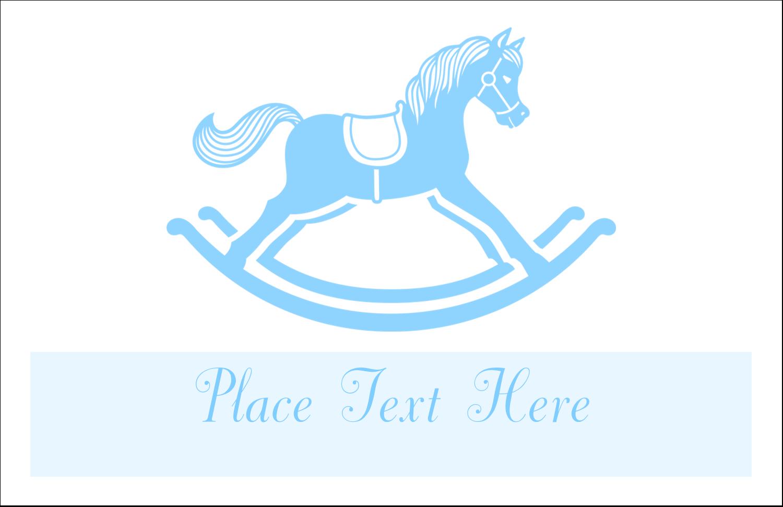 "5½"" x 8½"" Greeting Card - Baby Rocking Horse"