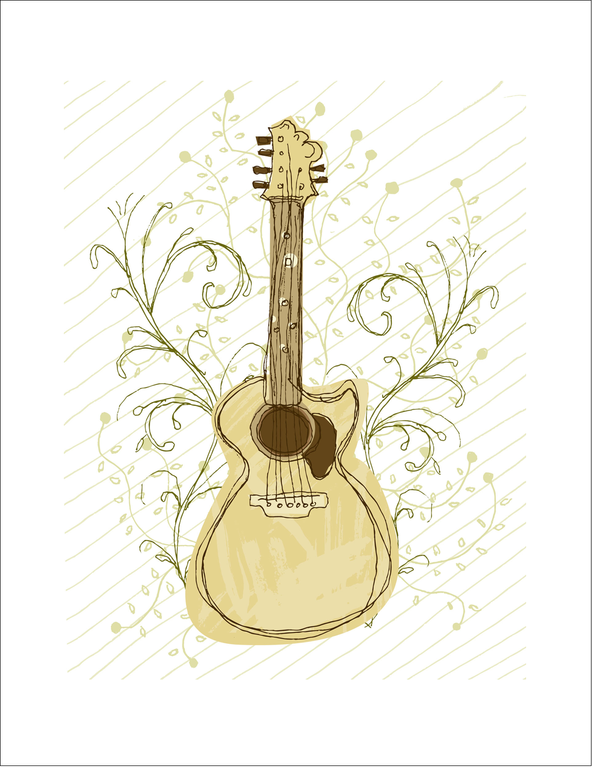"8½"" x 11"" Printable Cotton Fabric - ArtisticGuitar"
