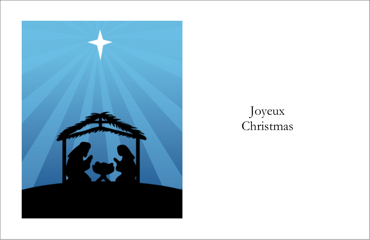 "5½"" x 8½"" Greeting Card - Baby Manger"