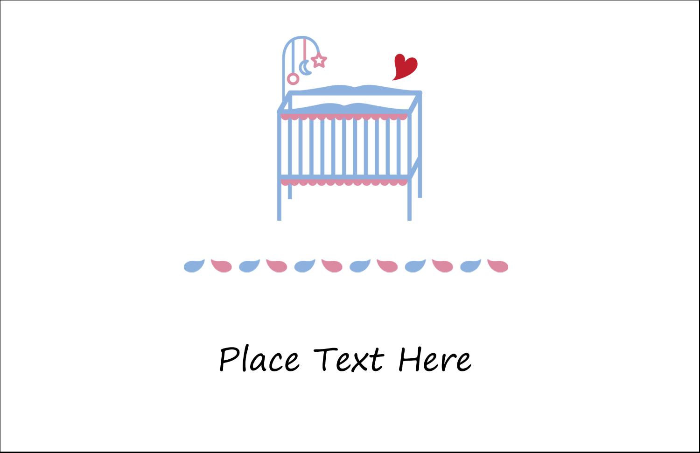 "5½"" x 8½"" Greeting Card - Baby Crib"