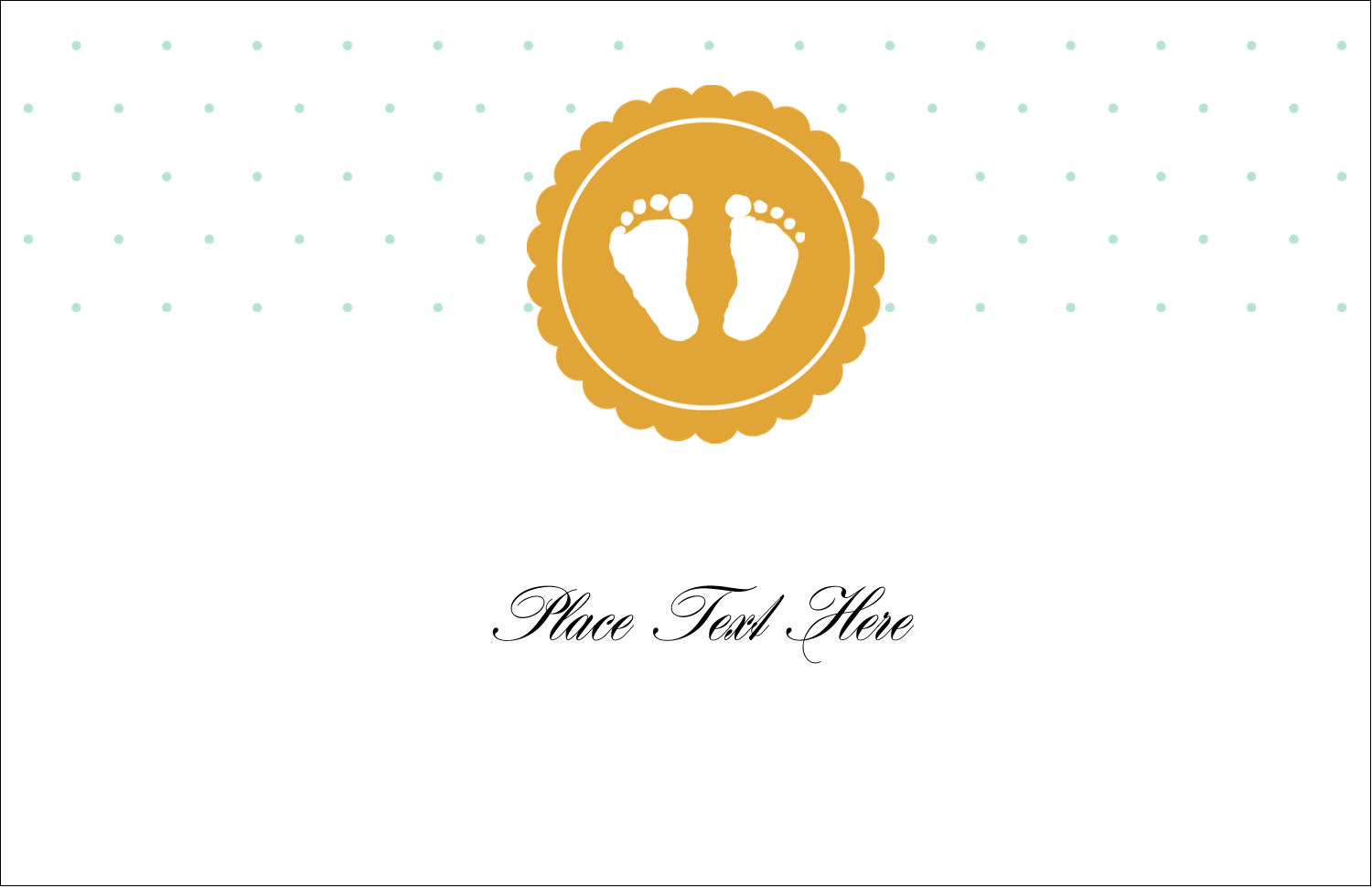 "5½"" x 8½"" Greeting Card - Baby Footprints"
