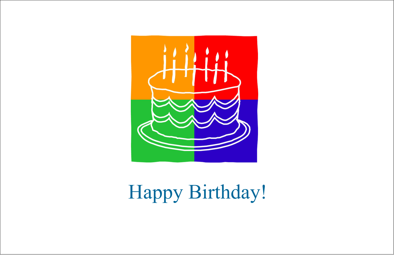 "5½"" x 8½"" Greeting Card - Birthday Cake"
