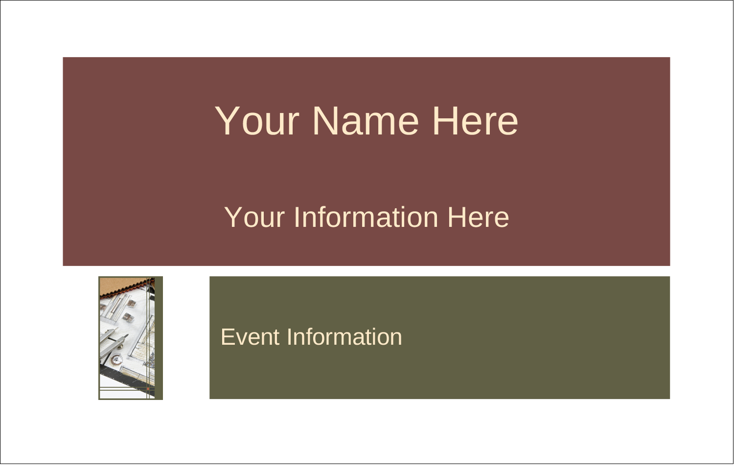 """2¼"""" x 3½"""" Name Tags - Arch 1"""