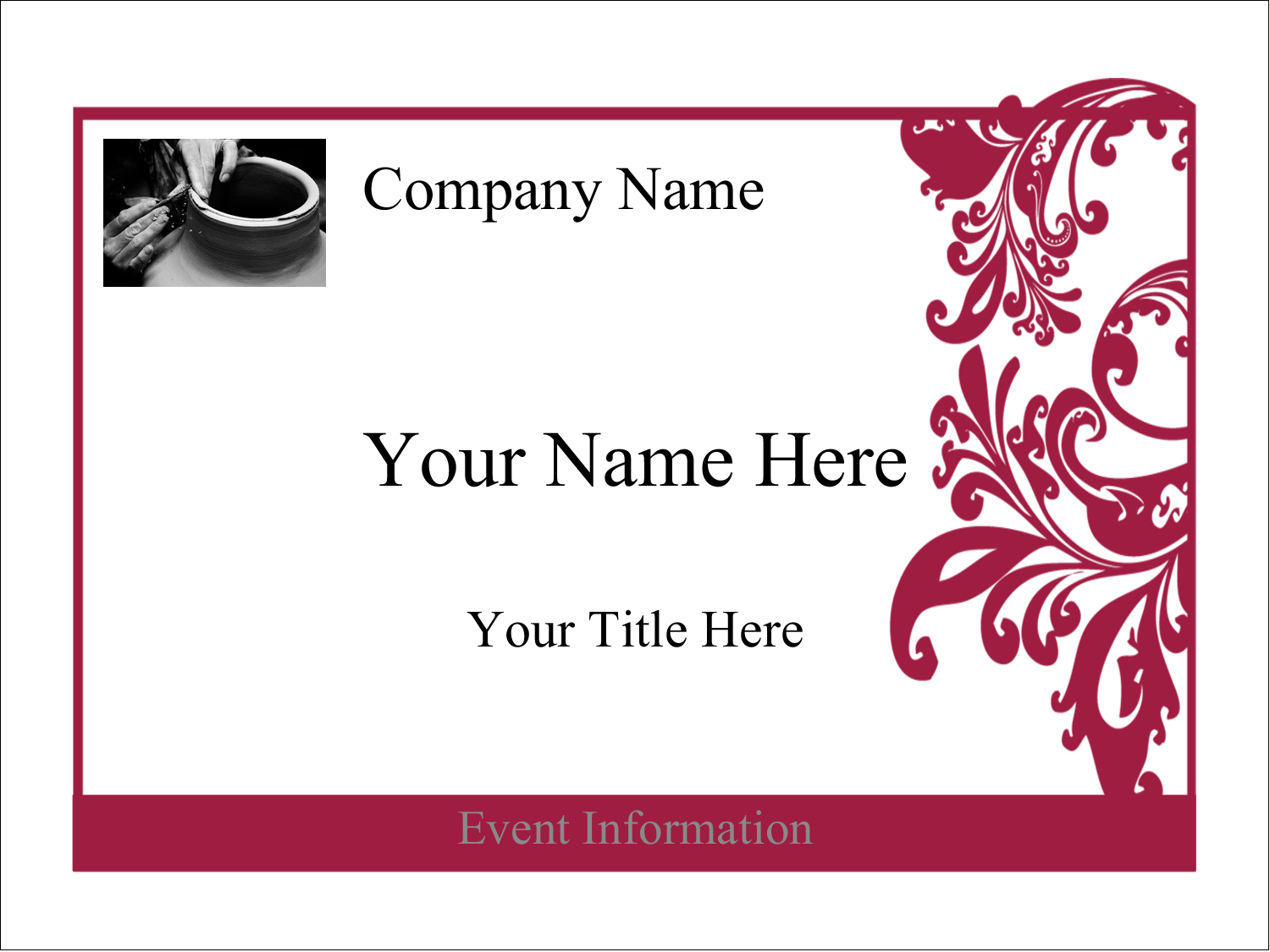 "4"" x 3"" Name Tags - Black and Red Art"