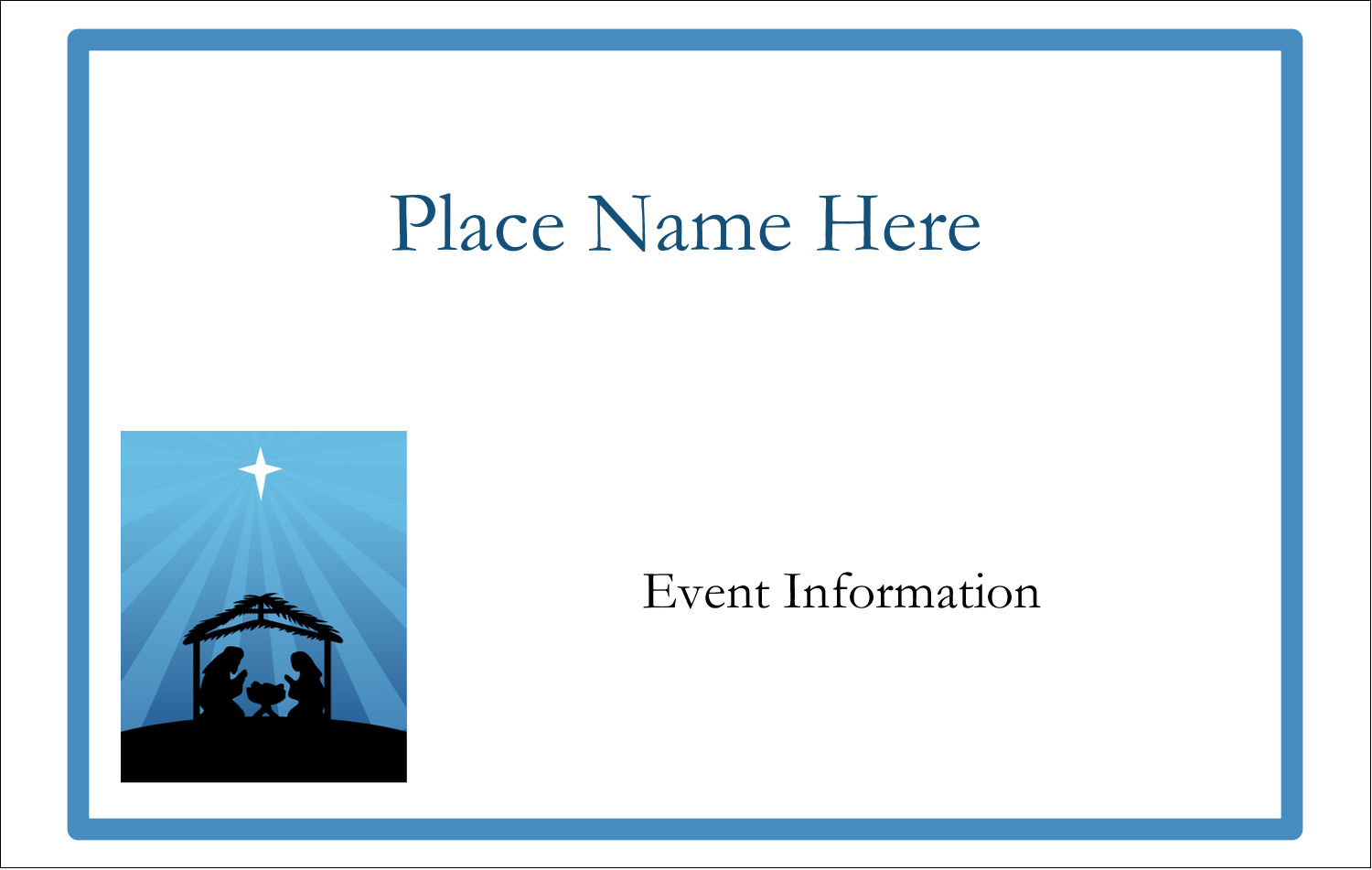 2¼ x 3½ Name Tags - Baby Manger