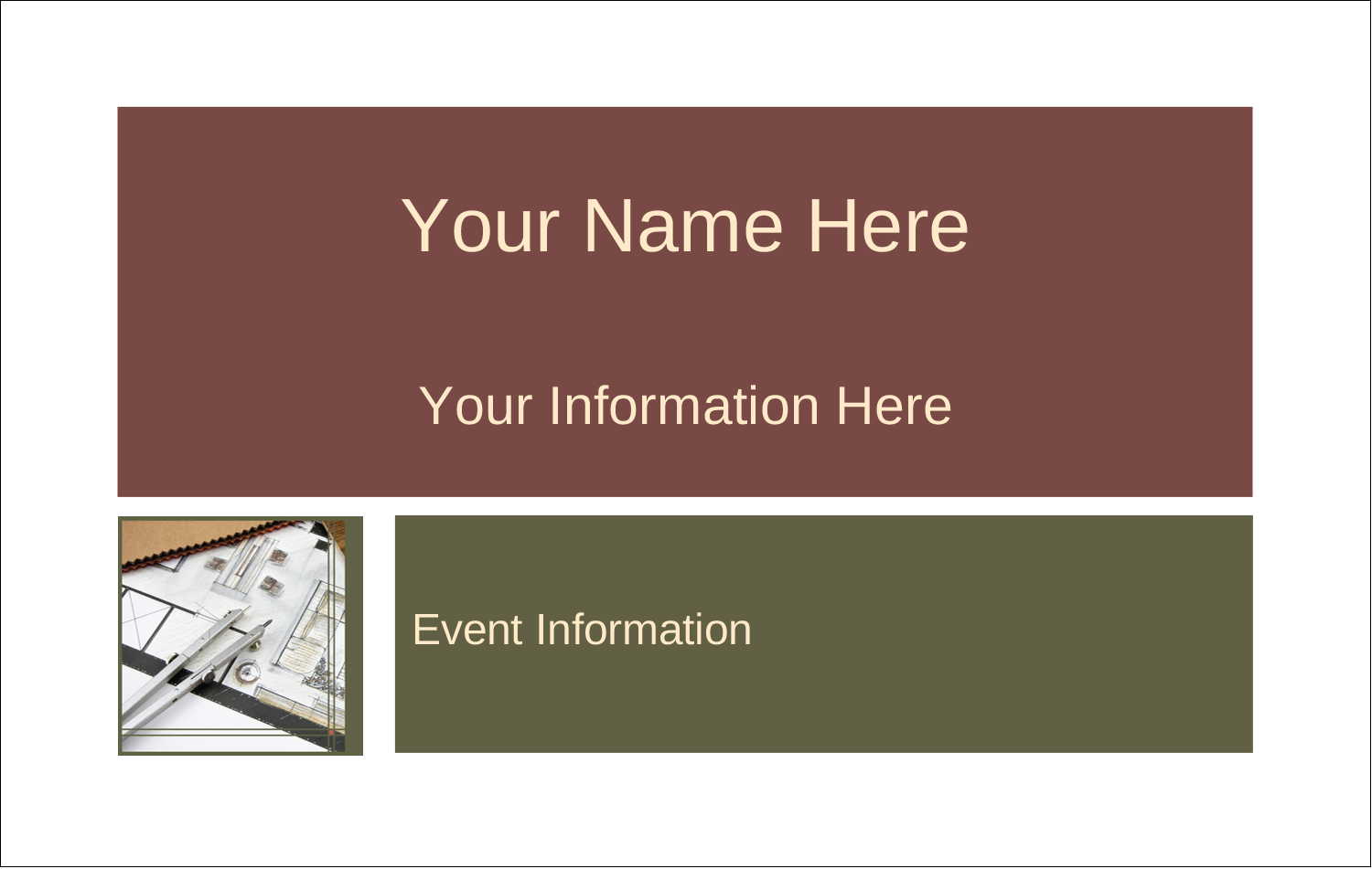 2¼ x 3½ Name Tags - Arch 1